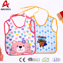 Eco-friendly adjustable waterproof washable customized cute baby bibs