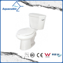 Siphonic Two Piece 1.28gpf Single Flush Elongated Toilet in White (ACT9048)