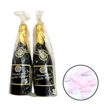 Type de point de noce romantique type couleur personnalisée pétale de rose pétale champagne bouteille confettis pour la décoration