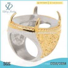 2015 new product gold indonesia rings without stones for men