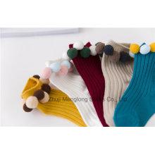 Ball Designs Girl Cotton Socks Cute Little Girl Wear Wholesale Small MOQ Winter Socks