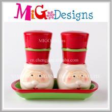 Idées de cadeaux de Noël Santa Ceramic Salt and Pepper Shakers