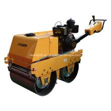 Rolo de asfalto de cilindro duplo hidrostático para compactação de solo