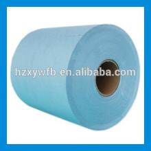 Traverser / Polyester Spunlace parallèle et tissu non-tissé de cellulose