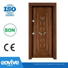 Diseño de moda acero y madera puerta interior