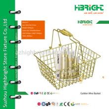 grocery store iron wire basket,wire storage basket,metal wire fruit basket