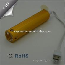 Led usb flashlight Usb torch light Led flashlight with usb charger