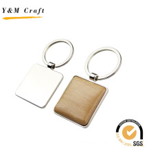 Promotion Geschenk Verschiedene Formen Metall Holz Schlüsselbund mit Laser Logo