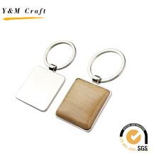 Подарок промотирования различные формы металла деревянные keychain с Логосом лазера