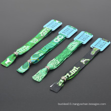 Hot sale polyester custom terry cloth wristband for festival