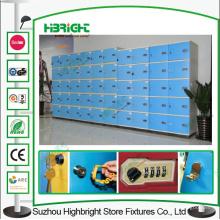 Casiers de bureau de six rangs ABS plastique couleur bleue