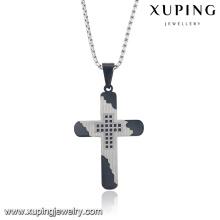 32722 Fashion Religion Series Cool Cross Colgante de cadena de joyería de acero inoxidable