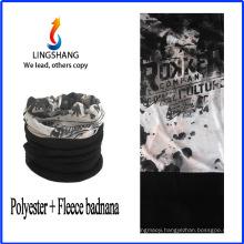 LINGSHANG fashion custom print bandana sports bandana polar fleece multifunctional bandana