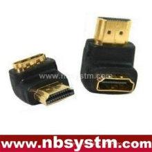 HDMI Ein Typ männlich zu weiblichen Adapter, Winkel 90 Grad