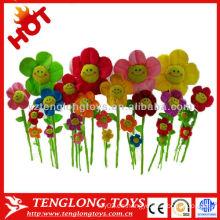 La venta caliente de la manera colorida encantadora de la cara de la sonrisa flor de la felpa