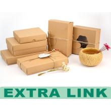 Present Popular Custom High End Kraft Paper Food Packaging Fancy Decorative Food Box