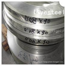 Tira de bobina estreita de aço inoxidável / cinto 410