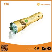 F20 Xml T6 Rechargeable polícia lanterna / caça lanternas LED