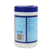 Lenços umedecidos desinfetantes com álcool para tecido não tecido descartáveis