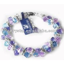 Bunte facettierte Kristallperlen Armbänder, Glasperlen Armbänder