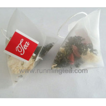 Calin hebdomadaire sachet de pyramide de qualité alimentaire