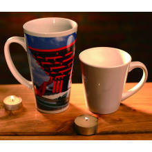 12oz sublimation latte conical conic mug