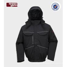 impermeável & respirável revestimento do workwear da segurança do revestimento do bombardeiro do inverno dos homens com tubulação reflexiva