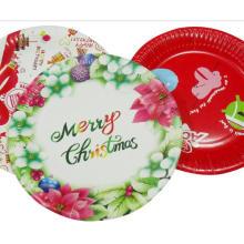 Diseño de placa de placa de papel lindo de Navidad niños