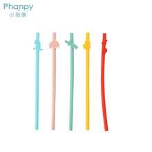 PH789494 Phanpy Baby Reusable Silicone Drinking Straws