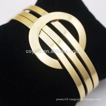 Custom Stainless Steel Jewelry Cuff 18K Gold Bracelet Designs Women