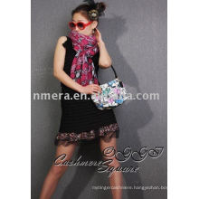 ladies' python veins printed cashmere scarf/shawl