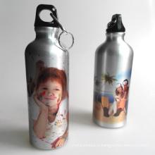Сублимация спортивная бутылка Серебряный алюминиевая бутылка воды 500 мл