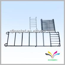 4 estanterías negro plegable venta al por menor tienda de alambre pantalla flor gardern Estante de metal