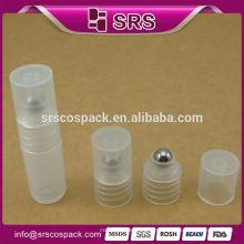 Clear 8ml garrafa de plástico para rolo de olho creme, Fabricantes no atacado 3ml vazio 5ml 7ml 8ml plástico recarregável roll on bottle