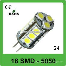 Lampe LED à levier LED 12V G4 5050 lampes LED 18 SMD