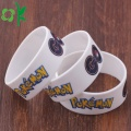 Game White Printed Cartoon Bangles Mode Silikon Armband
