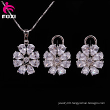 2016 Latest Design Fashion Women Plated Silver Set Jewelry