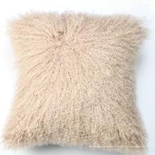 Coussin de siège en peau de mouton mongole