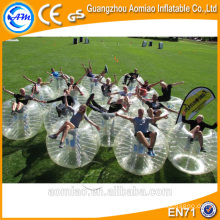 Precios de fábrica bola de parachoques humana de fútbol burbuja inflable en China