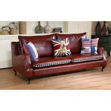 Cor vermelha explosão modelo América estilo couro sofá Club (C026)