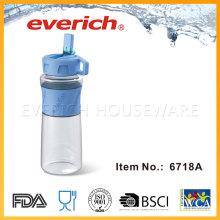 Reutilización de botellas de plástico vacías para la venta con la manga de silicona