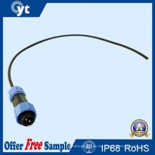 Conector macho a prueba de agua IP68 para tira de LED