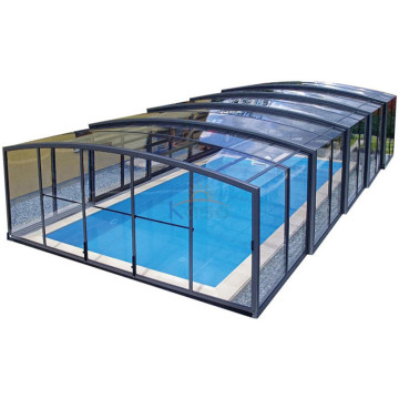 Elektrisk tag lukket gårdhave Foshan Swimming Pool Cover