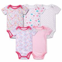Wholesale Romper Set Cotton Printed Flower Jumpsuits Toddler Girls Kids Polka Dots Onesie Infant Stripe Baby Romper