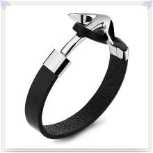 Joyería de moda cuero joyas pulsera de cuero (lb612)