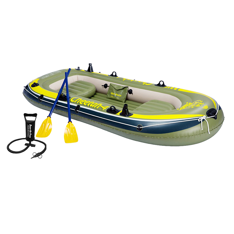 Inflatable rowing boat for 3-people in the pool