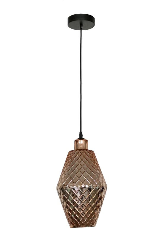 Rose Gold Glass Chandelier
