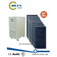 6kw del sistema de energía solar del panel solar de la rejilla para el hogar