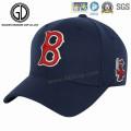 Casquette de baseball de golf de coton du panneau 6 de coton de haute qualité en gros 6 avec le logo de broderie
