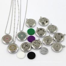 25мм Нержавеющая сталь моды эфирного масла ожерелье ювелирные изделия ожерелье